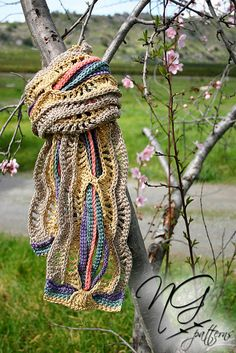 Scarf Crochet Pattern  A Tangle of Color Scarf by NeoGrandma, $0.99