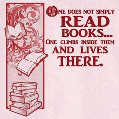 One does not simply read books...