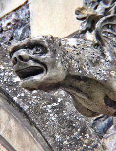 Gargouille à Saint-Valery-sur-Somme (photo Le Galet de Cayeux - www.galet-cayeux.net)