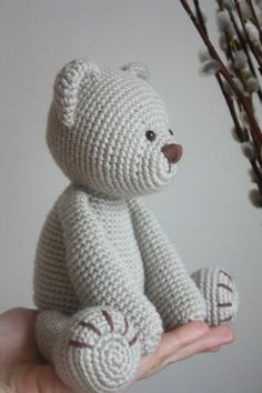 Amigurumi creations by Laura: New Teddy Bear PDF Pattern Yes. Amigurumi creations by Laura: New Teddy Bear PDF Pattern Yes. Crochet Diy, Crochet Patterns Amigurumi, Crochet Crafts, Crochet Dolls, Crochet Projects, Crochet Stitches, Crochet Tutorials, Crocheted Toys, Simple Crochet