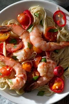 #tomato #tomatorecipes #summerrecipes How To Make Shrimp, How To Cook Pasta, Angel Hair, Fun Cooking, Seafood Dishes, Cherry Tomatoes, Summer Recipes, Chile, Grilling