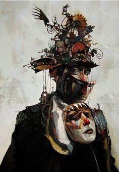Bruce Holwerda Gallery Magazine, Dark Circus, Photo Sculpture, Vintage Clown, A Level Art, Japanese Artists, Fantasy, Art Reference, Concept Art