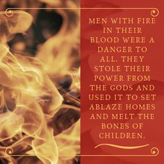 A quote from the Young Adult Fantasy novel Sand Dancer.  Blood fire is the name given to fire magic - the ability to covert one's own blood into lethal fire.