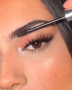 Asian Eye Makeup, Makeup Eye Looks, Eye Makeup Art, Beautiful Eye Makeup, Smokey Eye Makeup, Glam Makeup, Skin Makeup, Eye Makeup Designs, Eyebrow Makeup Tips