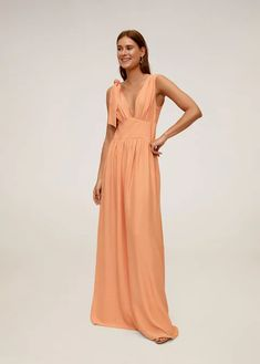 Online Exclusive Flowy fabric Flared design V-neck Fitted waist Wide straps Side bow fastening Inner lining Pleated Midi Dress, Floral Midi Dress, Sequin Dress, Ruffle Dress, Dress Skirt, Satin Gown, Satin Dresses, Dresses With Sleeves, Flare