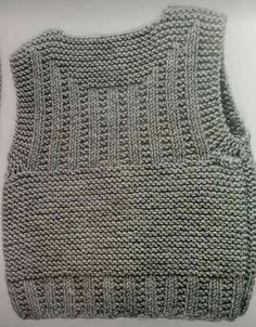 Newborn vest making Knitting Patterns Boys, Baby Sweater Knitting Pattern, Knit Vest Pattern, Knitting For Kids, Lace Knitting, Knitting Designs, Baby Patterns, Crochet Patterns, Baby Vest