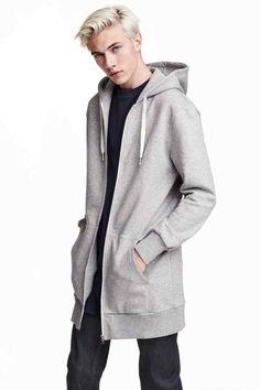 Giacca lunga con cappuccio | H&M