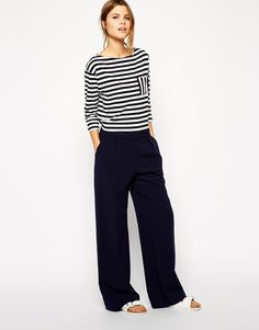 ASOS+Wide+Leg+Trousers+with+Piping