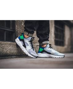 8b3a572670728 Nike Air Huarache Run Ultra Wolf Grey Green Navy Trainer Huarache Run