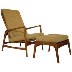 Ib Kofod Larsen Reclining Lounge Chair With Ottoman | From A Unique  Collection Of Antique And Modern Lounge Chairs At ...