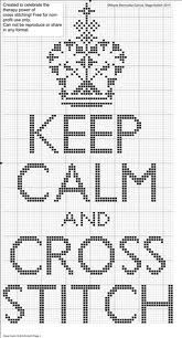 Google Image Result for http://dmc-threads.com/wp-content/uploads/2012/05/Keep-Calm-and-Carry-on-cross-stitch-chart.jpg