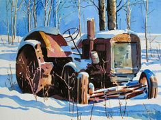Greg Johnson.   Winter Shadows