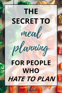 The secret to meal planning for people who hate to plan. Easy Recipes For Beginners, Cooking For Beginners, Cooking For One, Cooking On A Budget, Beginner Cooking, Quick Cheap Healthy Meals, Healthy Dinner Recipes, Cooking Recipes, Delicious Dinner Recipes