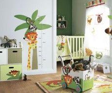 Jungle Safari Nursery. What a perfect scheme for  a boy's nursery #nursery #homedecor