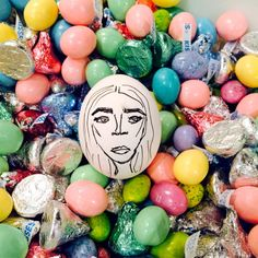 Cara Delevingne. See all of @thecartorialist Carly Kuhn's egg versions of big fashion people (North West and Karl Lagerfeld are in the mix!)