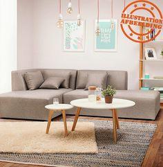 Tarot scandinavian coffee table in wood and oak (white) Shop Interior Design, Home Design, Kokoon Design, Regal Design, Bookcase Styling, Shelf Design, Scandinavian Interior, Kingston, Business Design