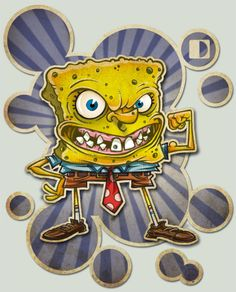 Spongebob by spundman on @DeviantArt Patrick Star, Spongebob Squarepants Tv Show, Star Wars, Geek Humor, Geek Art, Deviantart, Funny Art, Illustrations, Cartoon Characters
