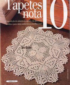 Crochet Doily Rug, Crochet Books, Crochet Stitches Patterns, Crochet Squares, Crochet Chart, Crochet Home, Thread Crochet, Love Crochet, Crochet Designs