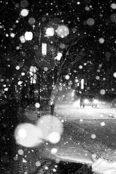 Night snow.