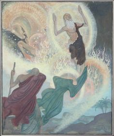 Edmund Dulac (1926), Scenes from Biblical History. Chariot of fire