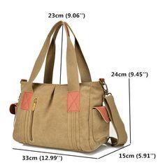 Women Canvas Tote Handbags Casual Shoulder Bags Capacity Shopping Crossbody Bags - Banggood Mobile