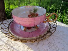 Vintage Tea Cup and Saucer Lusterware