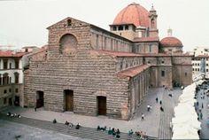 Basílica de San Lorenzo, de Brunelleschi (alzado)
