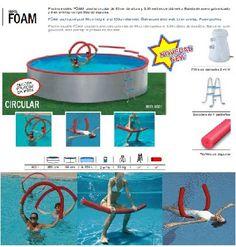 ¡Buenos días! Os traemos más novedades para este verano. La serie Foam, de Toi, piscina circular de 350 de diámetro por 90 cm alto con perfiles de espuma que podrás quitar cuando quieras para hacer gimnasia en tu piscina mientras te bañas. http://www.top-piscinas.com/