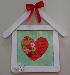 Mother's Day Crafts for Kids: Preschool, Elementary and More! Easy Mother's Day Crafts, Valentine's Day Crafts For Kids, Valentine Day Crafts, Art For Kids, Diy And Crafts, Paper Crafts, Valentines, Popsicle Stick Crafts, Craft Stick Crafts