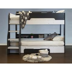 Isabelle & Max This bunk bed has practical storage and shelving, solid built and easy clean surfaces. Bed Frame With Drawers, Bunk Beds With Drawers, Bunk Beds Built In, Bunk Bed With Trundle, Modern Bunk Beds, Triple Sleeper Bunk Bed, High Sleeper Bed, Bed Shelves, Shelving