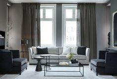 Lounge, Curtains, Living Room, Interior Design, Elegant, Furniture, Home Decor, Modern Interiors, Villa