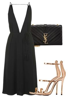 """""""Sem título #1639"""" by beatrizvilar ❤ liked on Polyvore featuring Yves Saint Laurent, Topshop and Charlotte Russe"""