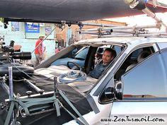 Paul on set of Vehicle 19.