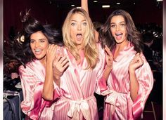 Sara Sampaio, Martha Hunt and Taylor Hill backstage at the VS Victoria's Secret Fashion Show vsfs 2015 - december/ in NYC