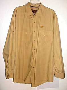 Mossy Oak Long Sleeve Vented Fishing Hunting Hiking Shirt XL. Cream Colored…
