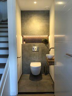 Small Downstairs Toilet, Small Toilet Room, Guest Toilet, Small Toilet Design, Bathroom Design Small, Bathroom Layout, Toilet Room Decor, Modern Luxury Bathroom, Luxury Toilet