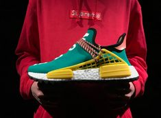 53d68f6a8a7e4 Pharrell x Adidas AC7188 Human Race NMD Trail Colorway  Sun Glow Best  Replica Version