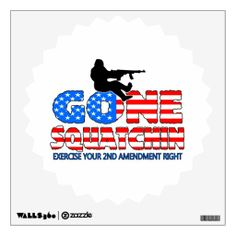 Gone Squatchin USA Wall Stickers