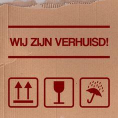 Verhuiskaart met verhuisdoos symbolen rood | © Hilde Reurink, De Schildertuin