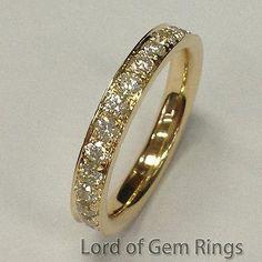 Diamond Wedding Band Eternity Anniversary Ring 14k Yellow Gold - Lord of Gem Rings - 3