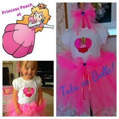 Princess Peach tutu set. Tutu es Belle, find us on Facebook!