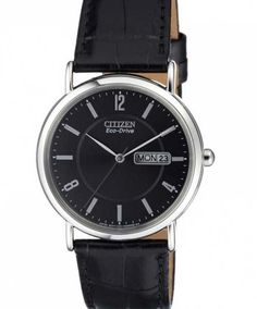 Elegant and slim Citizen Eco-Drive watch with date and day. Popular Watches, Citizen Eco, Slim, Elegant, Leather, Accessories, Classy, Chic, Ornament