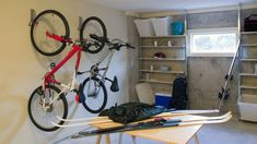 Got bikes? Storing your ride in the off-season can be tricky, but we've got some nifty bike storage ideas to get those wheels out of your way Craftsman House Plans, Modern House Plans, Small House Plans, House Floor Plans, Garage Apartment Floor Plans, Garage Apartments, Bike Storage Home, Deep Closet, Vertical Bike