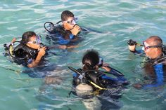 Kids on a Discover Scuba Dive.