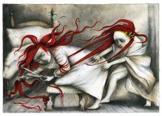 Ana Juan fue premio Nacional de Ilustración 2010 (Ilustración para el libro «Sorelle», Editorial Logos, Italia, 2010.) http://www.anajuan.net/ http://www.veniracuento.com/