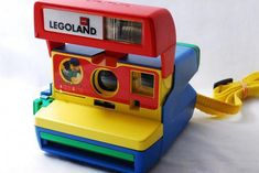 *Super Rare* Legoland Polaroid 600 camera Lego only one in stock Tested Shooting in Cameras & Photo, Vintage Movie & Photography, Vintage Cameras 80s Aesthetic, Rainbow Aesthetic, Blue Yellow, Red And Blue, Nostalgia, Instant Camera, Vintage Cameras, Thing 1, Photography Tips