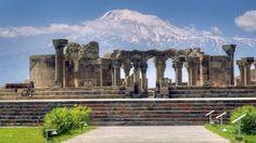 Звартноц- храм Бдящих Ангелов. Один из главных сокровищ армяской архитектуры, построенный в 643-652 гг.