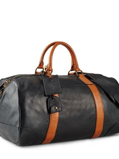 Polo Ralph Lauren Smooth Leather Duffle Bag - Polo Ralph Lauren Duffle - Ralph Lauren France
