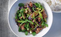 Die beste Art, Lamm zu essen – extrem heiß und extrem kurz, das ist das Prinzip bei diesem Rezept... Ratatouille, Thai Chili, Asian, Beef, Food, Eggplants, Rice Wine, Red Chili, Aubergine Recipe
