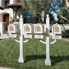 Original Keystone Series Inner Deluxe Post Quad Multi-Unit Mailbox System (Mailboxes not included)